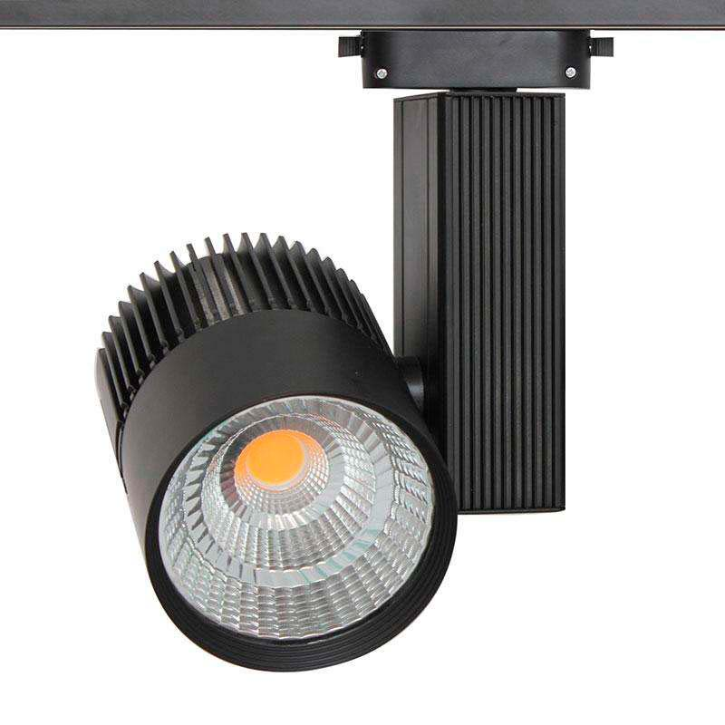 Foco carril CRONOLUX RAIL LED negro 35W, Blanco frío